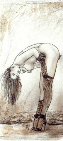 现代美女素描