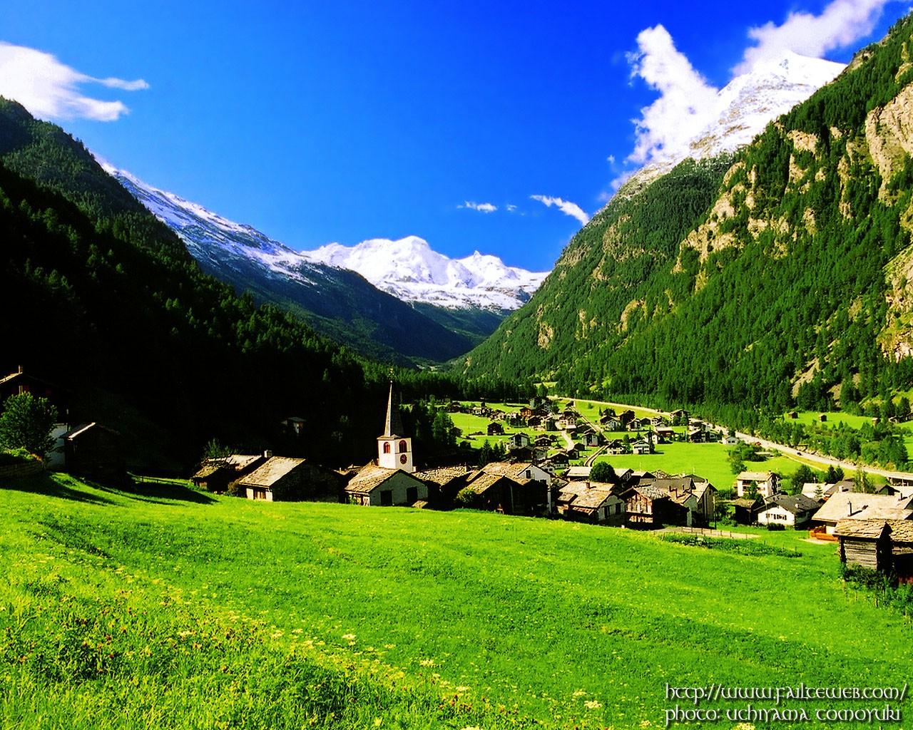 大自然的宫殿---阿尔卑斯山风景[图片]